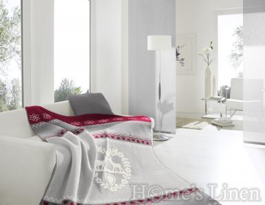 """Луксозно одеяло с празнични мотиви памук бленд """"Alpine Romance"""", Alpine Collection"""