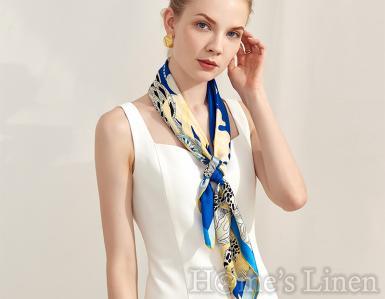 """Луксозен шал от естествена коприна """"Flores Lucidum"""", EM&EVE"""
