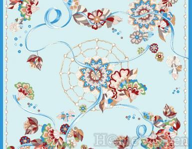 "Луксозен шал от естествена коприна ""Rete"", EM&EVE"