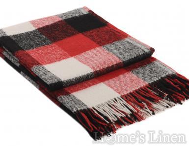 """Одеяло с вълна """"Палермо"""" черно/червено"""