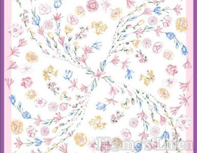 """Луксозен шал от естествена коприна """"Fons Flores"""", EM&EVE"""