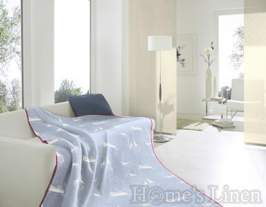"""Луксозно одеяло с морски мотиви памук бленд """"Ахой"""""""
