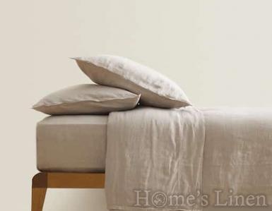 "Долен чаршаф с ластик 100% Френски лен ""Овес беж"", Natural Linens Collection"