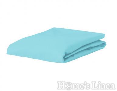 Долен чaршаф с ластик 100% памук дюс светло синьо