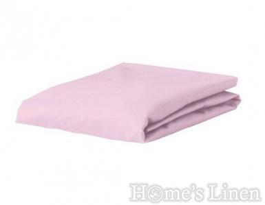 Долен чaршаф с ластик 100% памук дюс светло розово