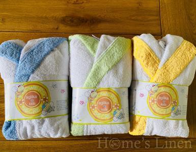 """Детски халат за баня с качулка 100% памук """"Стандарт с кант"""" - различни цветове и размери"""