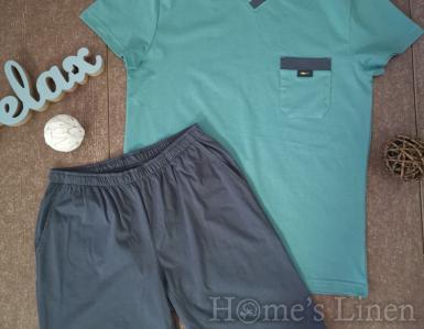"""Мъжка пижама """"Класик"""" зелено"""