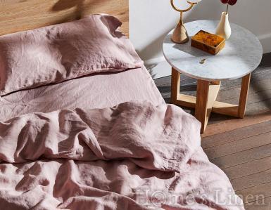"Долен чаршаф с ластик 100% Френски пран лен ""Лавандула"", Natural Linens Collection"