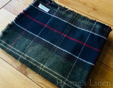 """Наметало с монограм от фино-пресована вълна """"Wooly"""", Scottish Check"""