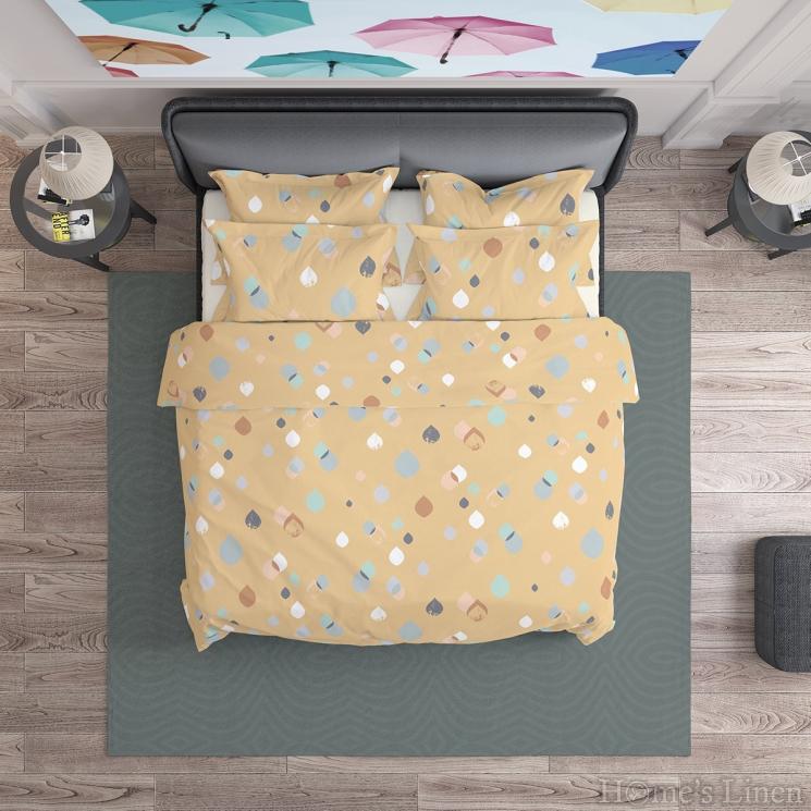 """Спален комплект 100% памук в цвят охра """"Серена 2"""""""