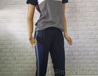 "Дамска пижама ""Класик"" сиво"