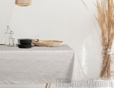 """Жакардова покривка за маса в сиво, незадържаща петна  """"Арианда"""""""