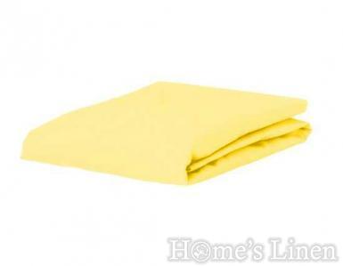 Долен чaршаф с ластик 100% памук дюс жълто