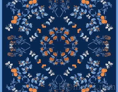 """Луксозен шал от естествена коприна """"Aureum Caeruleo"""", EM&EVE"""
