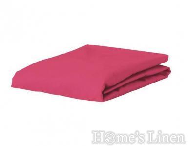 Долен чaршаф с ластик 100% памук дюс малина