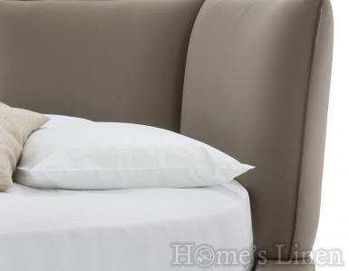 Луксозен долен чаршаф с ластик за кръгла спалня 100% памучен сатен Classic Collection - различни цветове
