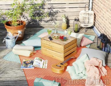 "Пикник одеяло/ одеяло за пикник Biederlack ""Picnic Coral"""