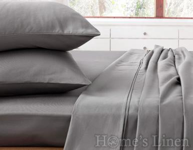 """Еднолицев спален комплект памучен сатен, 100% памук """"Стоманено сиво"""", Classic Collection"""