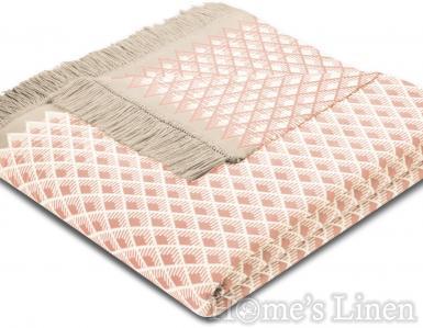 "Луксозно одеяло с геометрични мотиви ""Bright Day Coral"", Sunset Feel Collection"