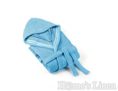"""Халат за баня 100% памук """"Венеция"""" синьо"""