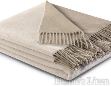 """Луксозно кашмирено наметалo/ одеяло """"Cashmere Plaid"""", Natur Sand"""