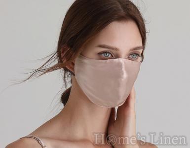 """Маска за лице от 100% естествена коприна """"Nude"""", EM&EVE"""