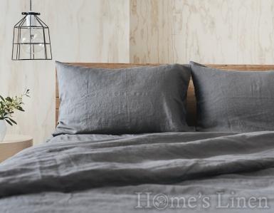 """Спален комплект от 100% Френски пран лен """"Стоманено сиво"""", Natural Linens Collection"""