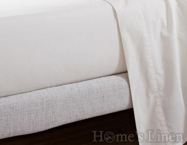 Луксозен долен чaршаф 100% памучен сатен 300 нишки Premium Collection - различни цветове