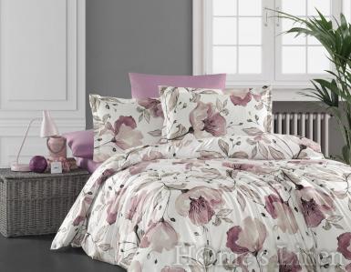 """Спален комплект 100% органичен памук """"Пролетни цветя"""""""