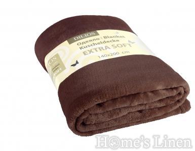 Одеяло екстра софт кафяво