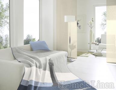 """Луксозно одеяло с морски мотиви памук бленд """"Морски фар"""""""
