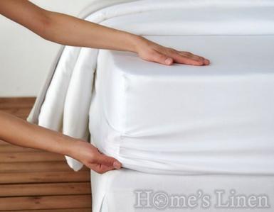 Долен чaршаф с ластик 100% памучен сатен Classic Collection - различни цветове