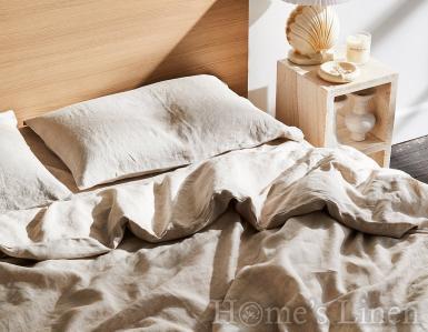 """Спален комплект от 100% Френски пран лен """"Овес беж"""", Natural Linens Collection"""