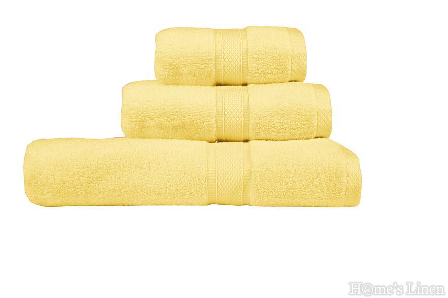 """Комплект 2 бр. хавлиени кърпи """"Луксор"""" светло жълто"""
